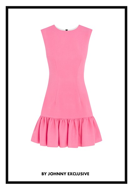 buy the latest Punch Me Pink Gather Mini Dress online