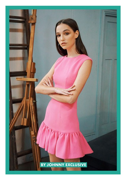 buy the latest Punch Me Pink Gather Mini Dress | Pre-Order online