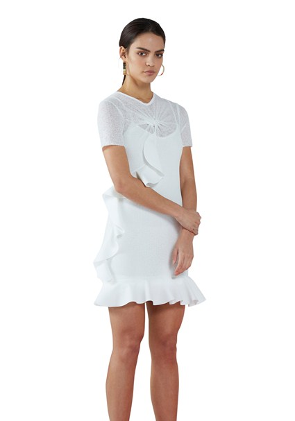 buy the latest Knit Twist Tee Mini Dress online