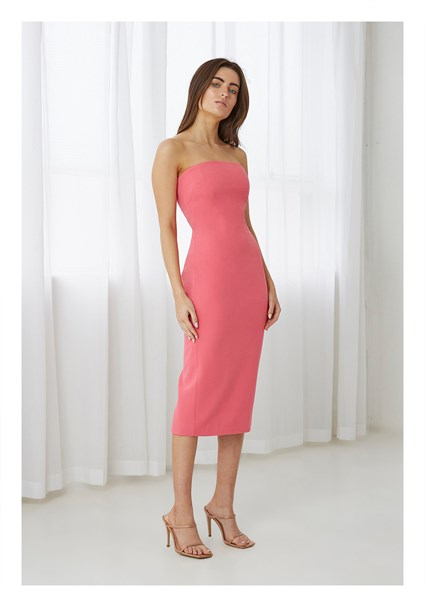 buy the latest Strapless Midi Dress online