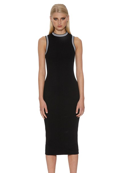 buy the latest The Racer Ribbed Midi Dress online