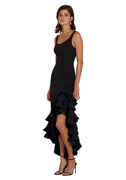 buy the latest The Poppy Black Frills Gown online