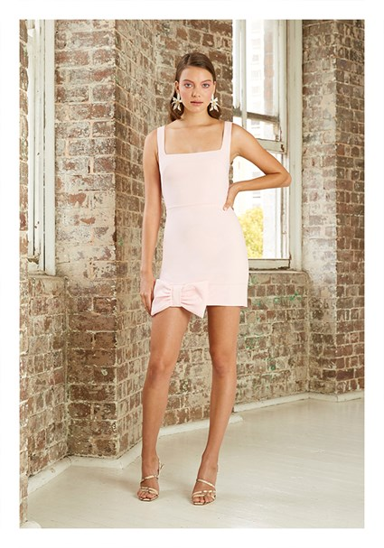 buy the latest Belle Bow Hem Mini Dress online