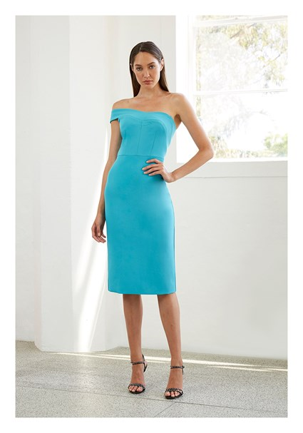 buy the latest Electric Skies Structured Midi Dress online