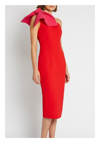 buy the latest Chilli Sculpture Sleeve Midi Dress online