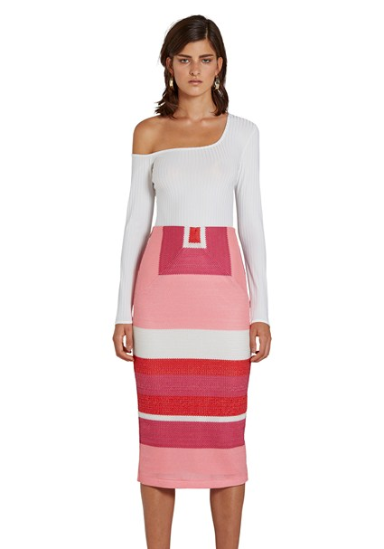 buy the latest Honeycomb Weave Pencil Skirt online