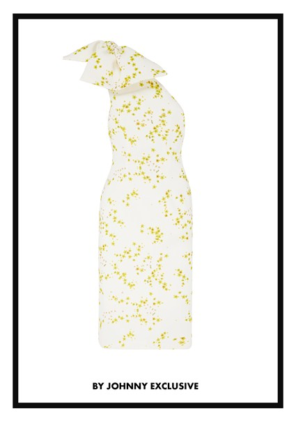 buy the latest Yellow Daisy Sculpture Sleeve Midi Dress online