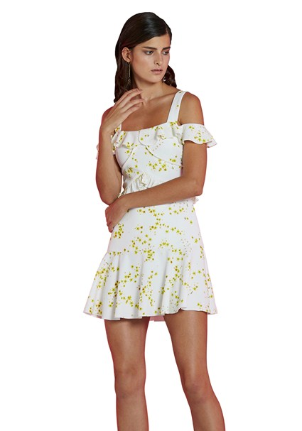 buy the latest Daisy Frill Off Shoulder Mini Dress online