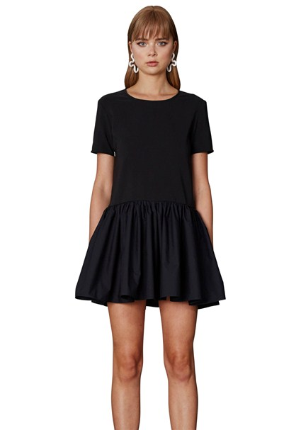 buy the latest Cotton Gather Tee Mini Dress online