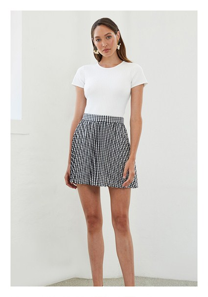 e1240a0d49320c buy the latest Checked Pleats Mini Skirt online