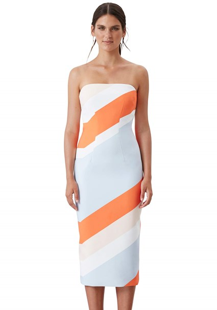 buy the latest Perspective Strapless Dress  online