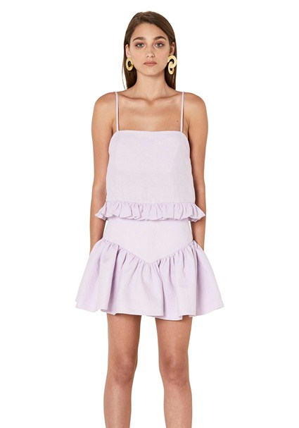 buy the latest Linen Drop Frill Mini Skirt online