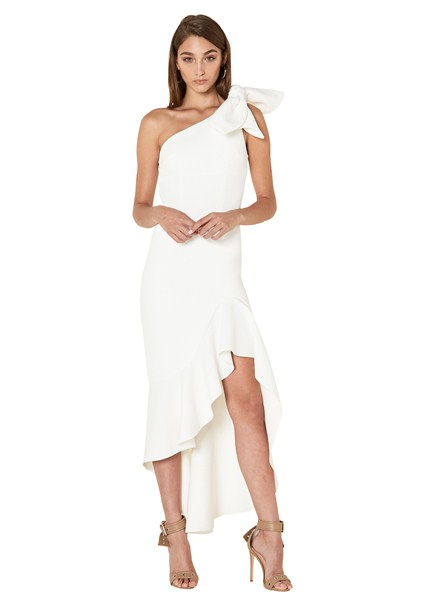 buy the latest Tie Shoulder Wave Gown online