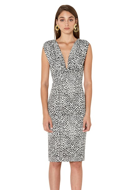 buy the latest Cheetah V-Neck Midi Dress online