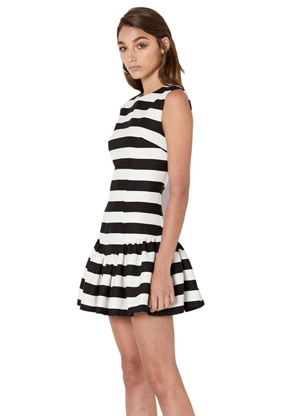 buy the latest Bold Stripe V Gather Mini Dress online