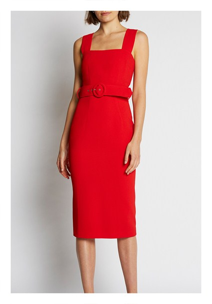 buy the latest Rose Belted Shift Midi Dress online