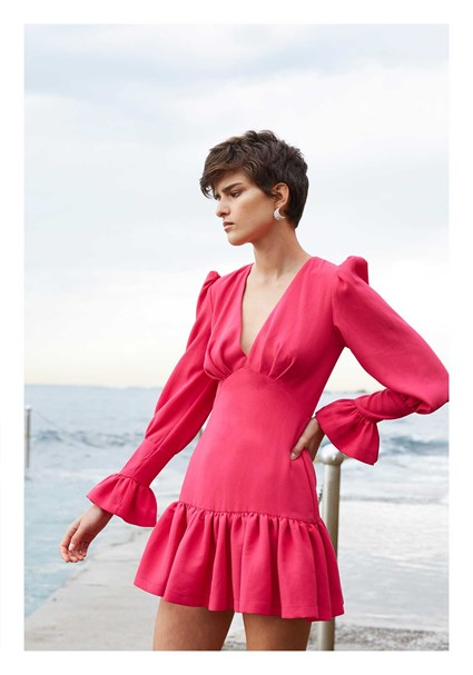 buy the latest Anna V Tulip Sleeve Mini Dress online