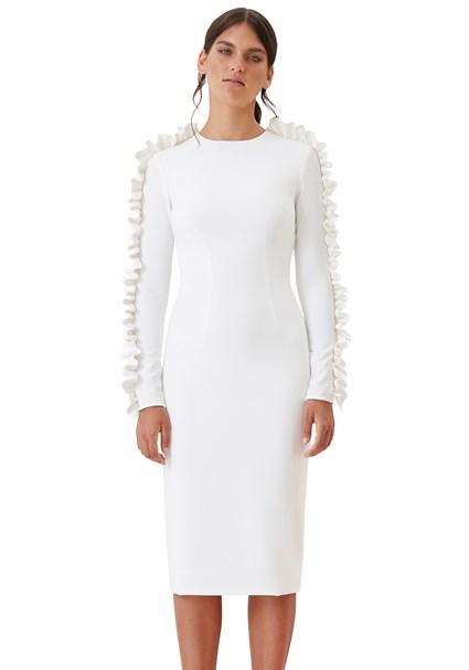 buy the latest Ruffle Sleeve Pencil Dress online