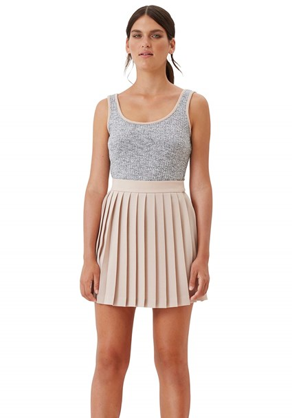buy the latest Tv Knit Piped Singlet Top online