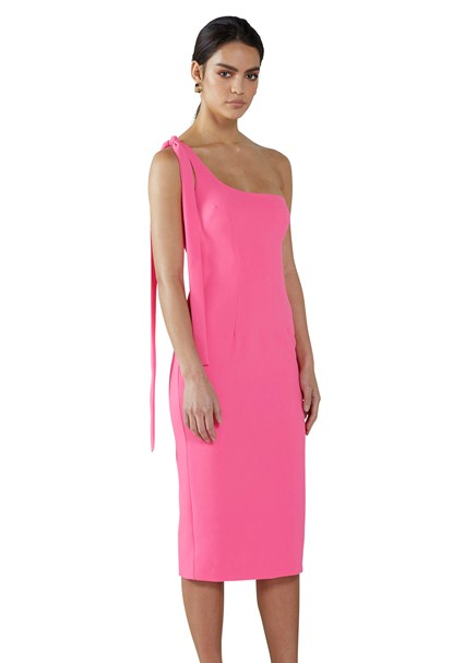 buy the latest Pink Punch One Shoulder Midi Dress online