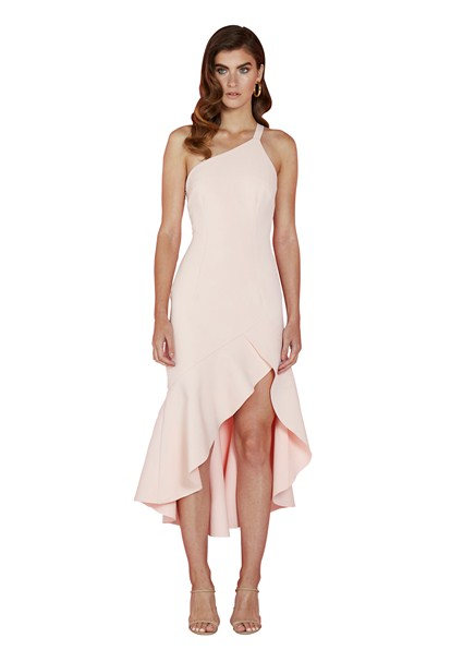 buy the latest Asymmetric Tulip Frill Gown online